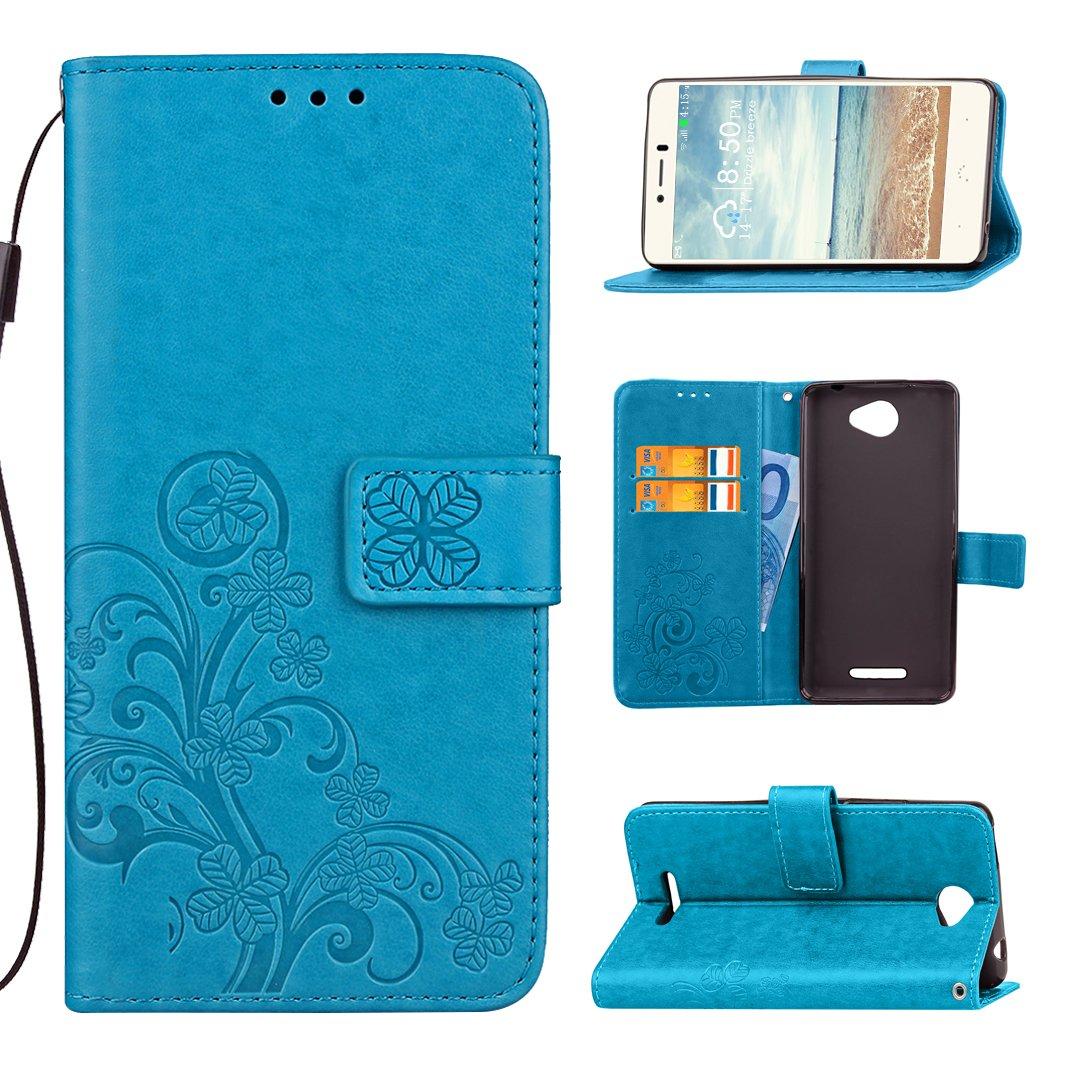 BQ Aquaris U Lite Funda Libro de Suave PU Leather Cuero Impresión