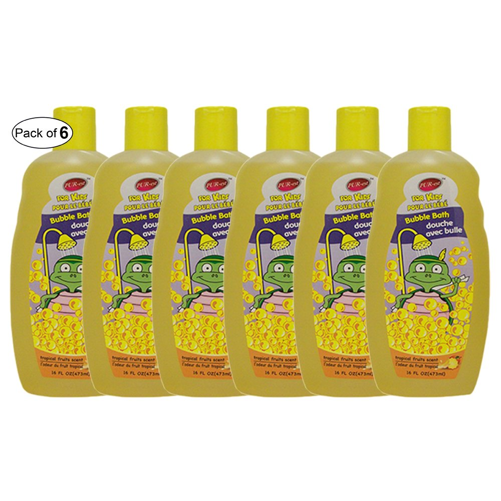 Purest Kids Bubble Bath With Tropical Fruits Scent(473ml) (Pack of 6)