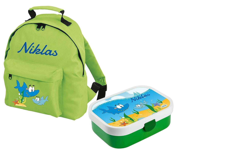 Mein Zwergenland Set 1 Kindergartenrucksack Classic und Brotdose Brotdose Brotdose Mepal Bento Box mit Gabel mit Name Traktor, 8L, Grün B07KLZYWX2   Fein Verarbeitet  f5a618