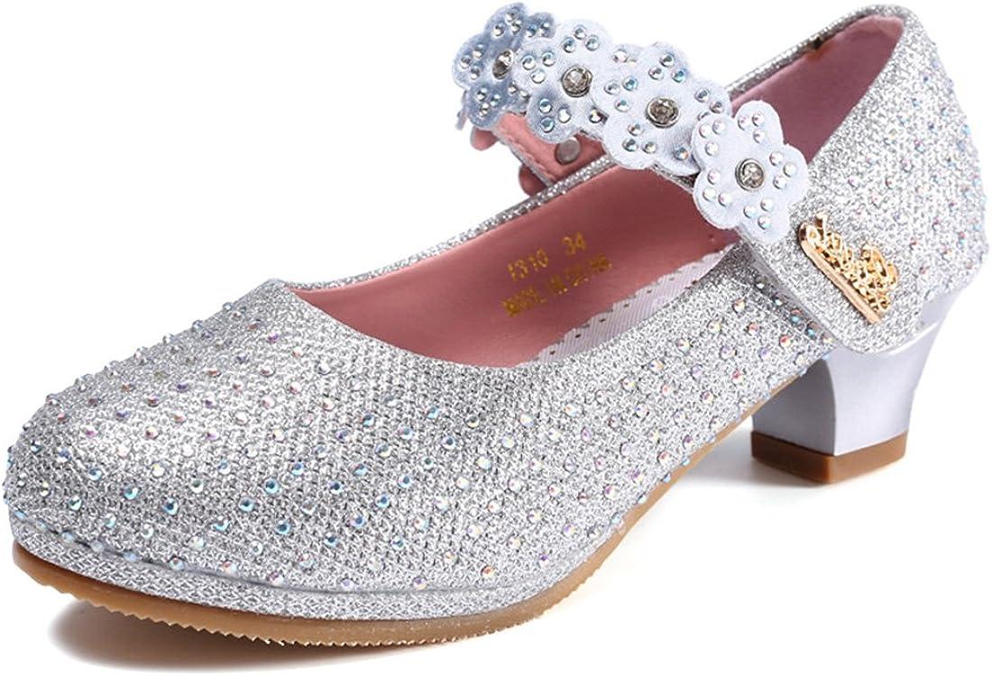 O/&N Prinzessin Gelee Partei Absatz-Schuhe Sandalen f/ür Kinder Glanz Prinzessin mit Kunstdiamond