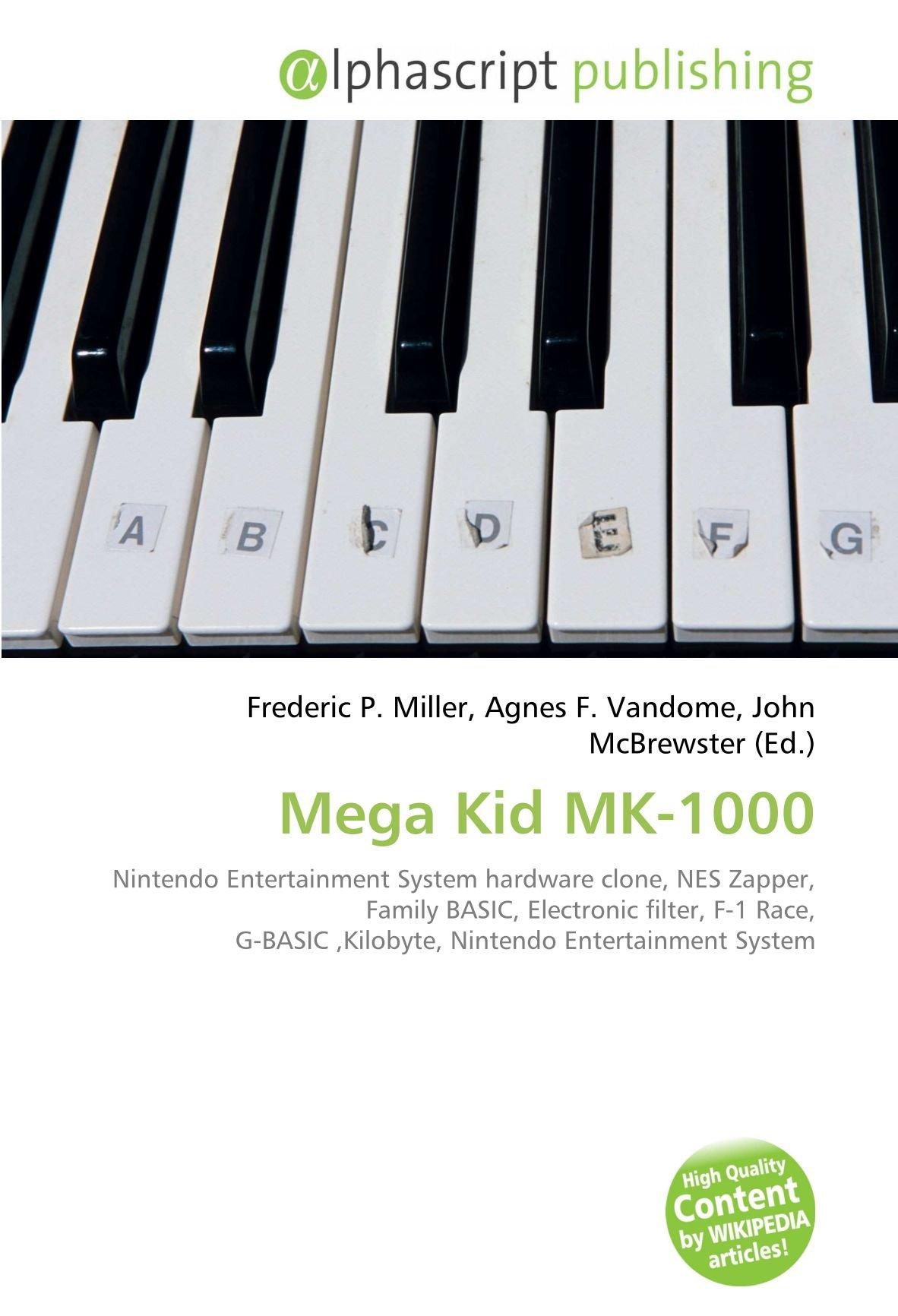Mega Kid Mk-1000: Amazon.es: Miller, Frederic P, Vandome ...