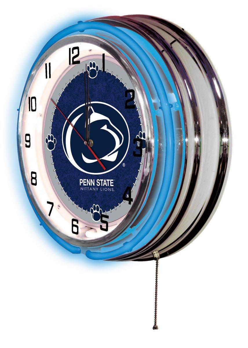 Holland Bar Stool Co Penn State 19 Neon Clock Chrome