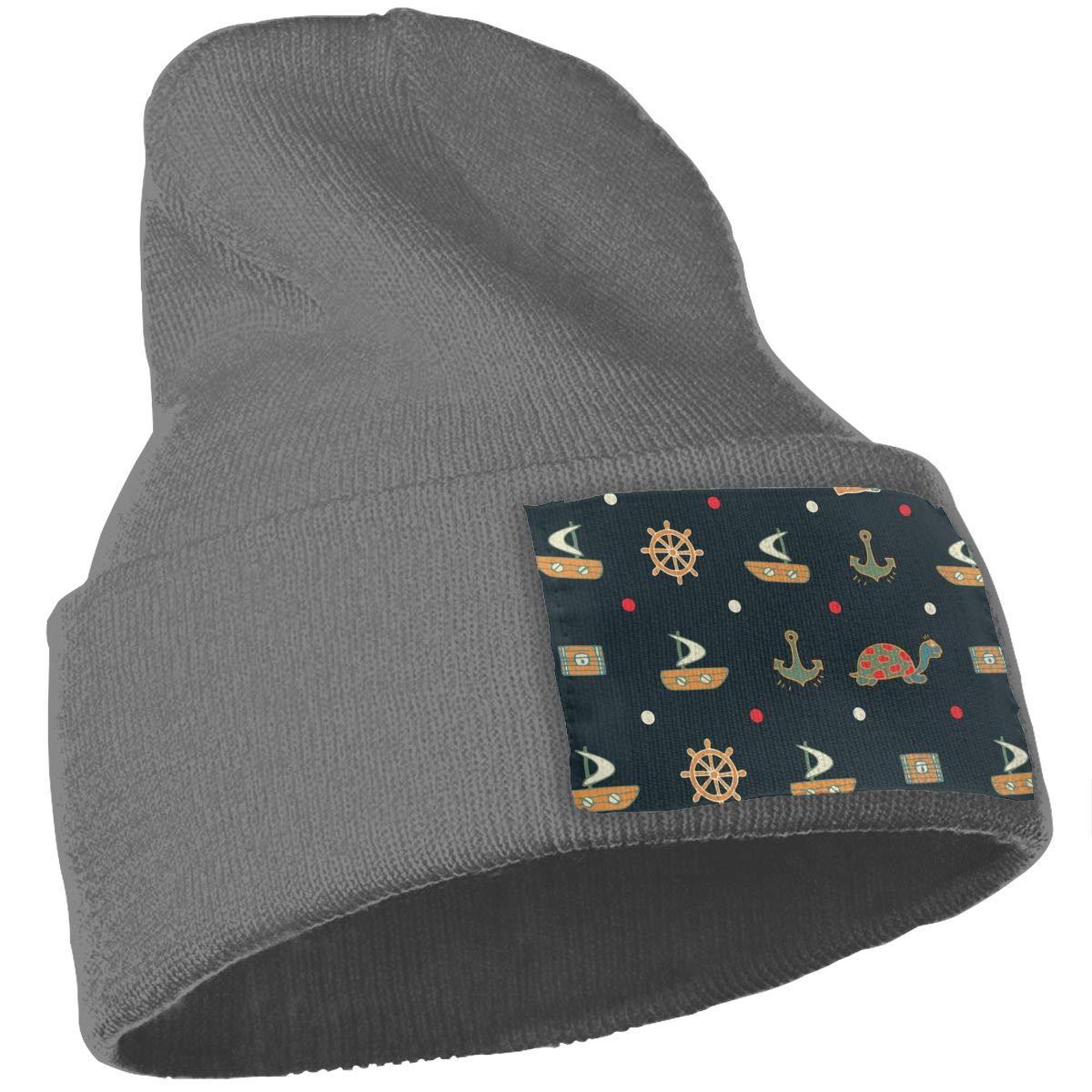 Ship Nautical Anchor Winter Wool Cap Warm Beanies Knitted Hat