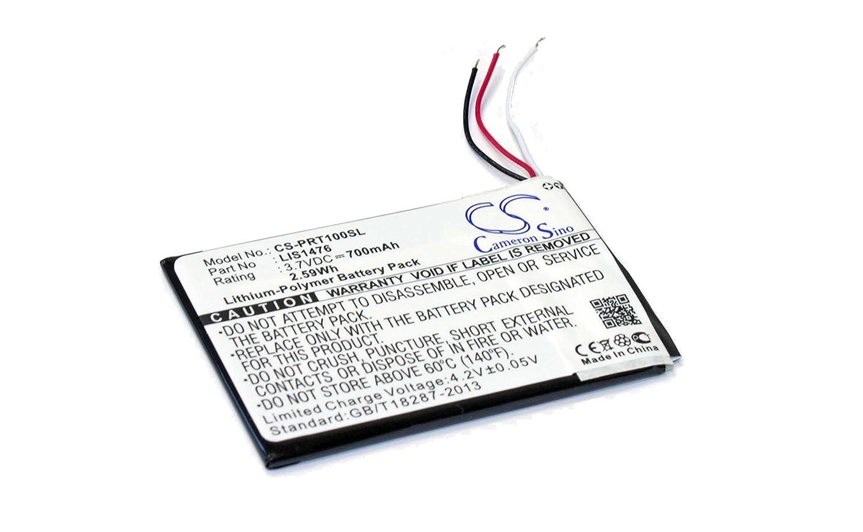 vhbw Batería de polímero de Litio 700mAh (3.7V) para eBook Reader ...