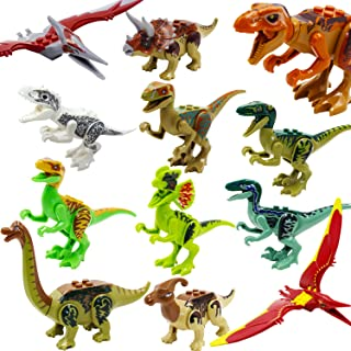 ZDToys Dinosaur Toys,Dinosaur Figure Toys, Plastic Dinosaur Playset, STEM Educational Realistic Jurassic World Dinosaur Figures for Kids Toddlers Including Stegosaurus, Triceratops, 12 Pack
