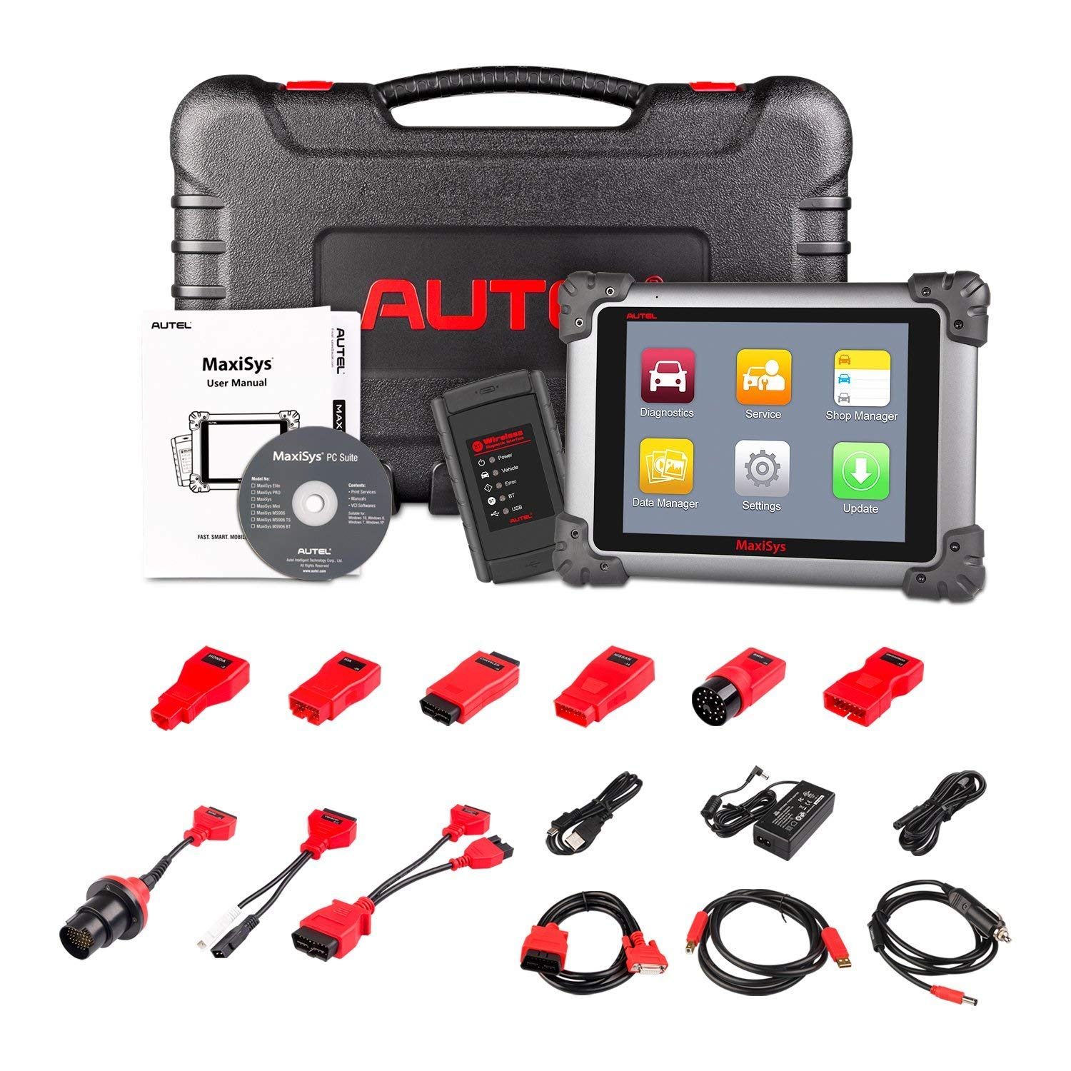Autel Maxisys MS908 Diagnostic Scan Tool Android Analysis System with Advanced Coding Full Modules with Free Update Online, OE-Level Diagnostics OBD2 Code Scanner
