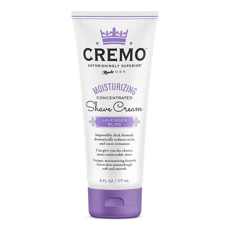 Cremo French Lavender Moisturizing Shave Cream, Astonishingly Superior Shaving Cream For Women, Fights Nicks, Cuts And Razor Burn, 6 Ounces