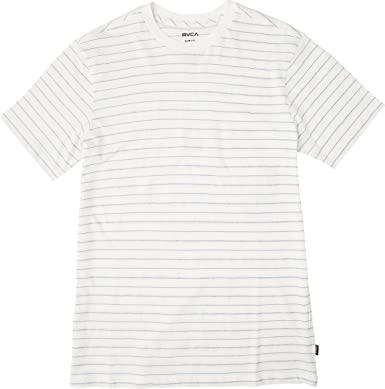 Vintage White RVCA Washed Stripe Box Women/'s T-Shirt New