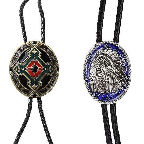 MagiDeal Jefe de Indio Lazo + Tribu Tótem Lazo Collar Corbata Bolo ...