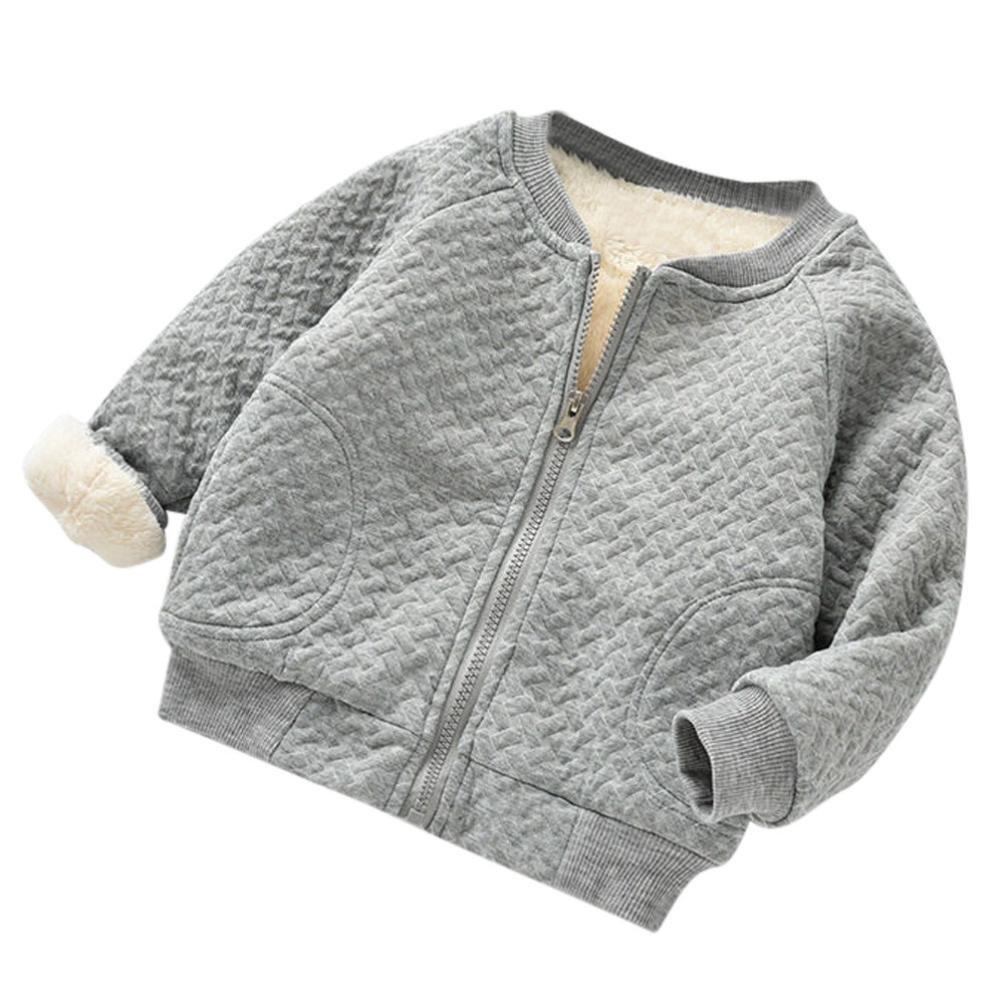 Sensail Bébé Filles Garçons Hiver farci Veste de Baseball Jacket Coat Casual Vêtements Manteau
