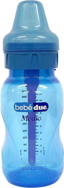 Bebé Due Medic - Biberón anticólicos, 330 ml, 3m+
