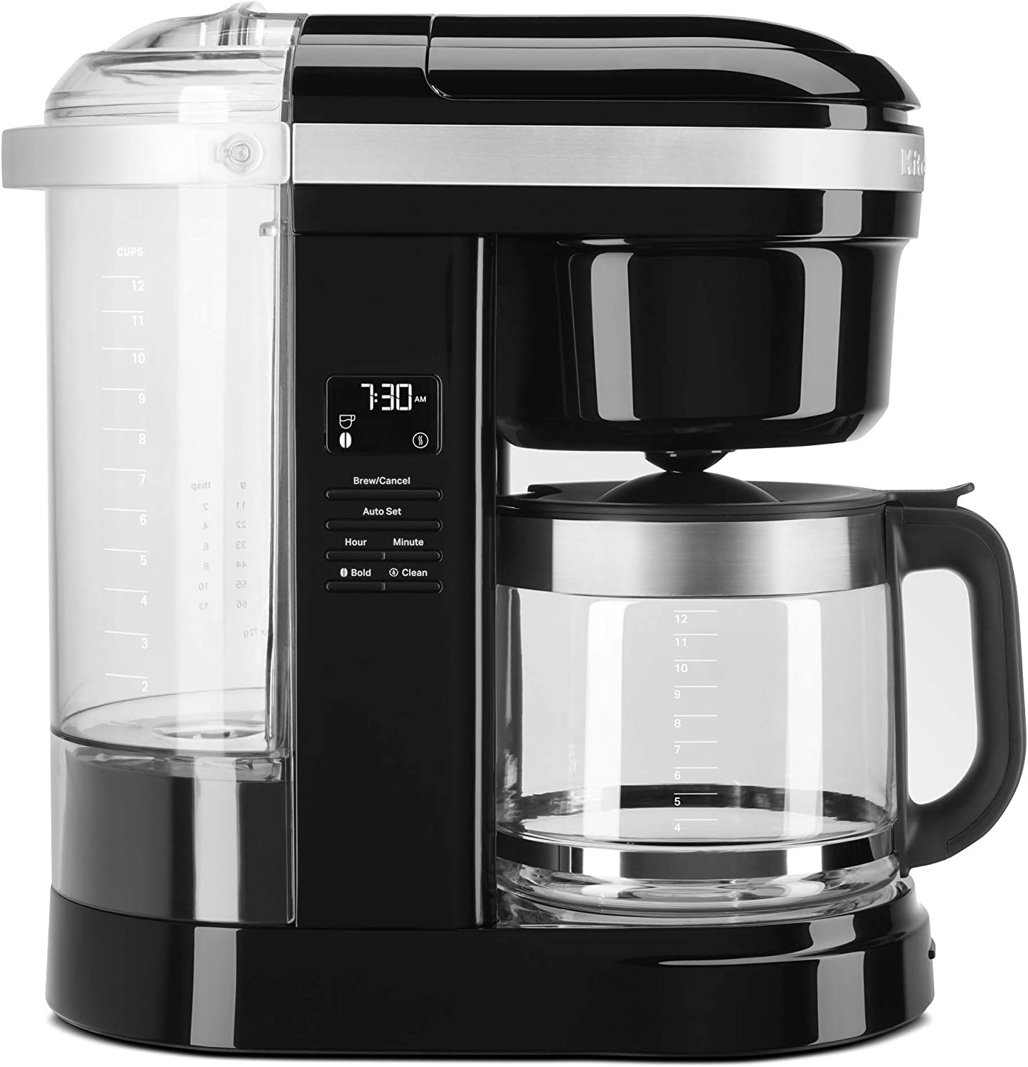 KitchenAid KCM1208OB Drip Coffee Maker, 12 Cup, Onyx Black
