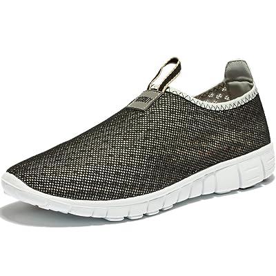 KENSBUY Women's Lightweight Slip on Mesh Shoes Quick Drying Aqua Water Shoes Athletic Sport Walking Sneaker | Water Shoes