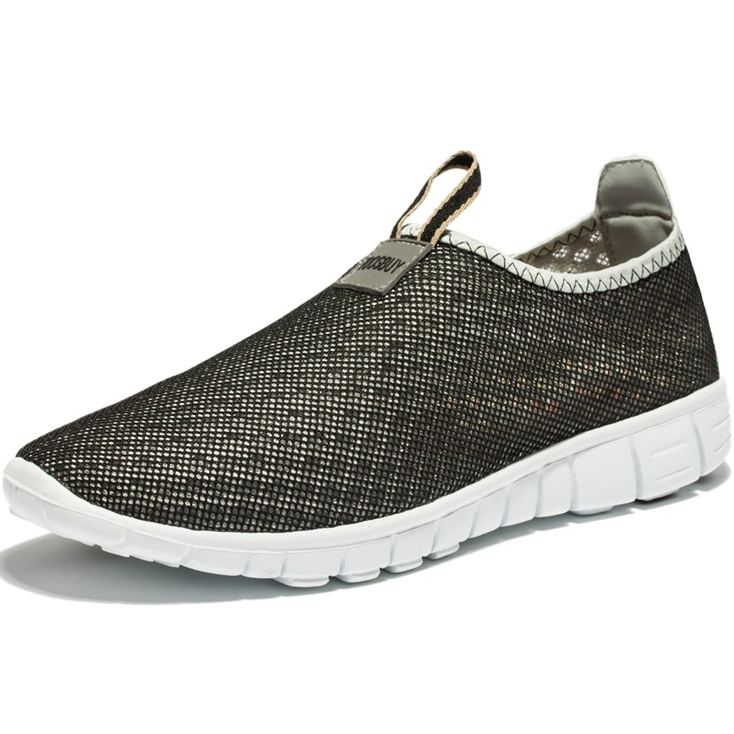 KENSBUY Men & Women Breathable Mesh Running Sport Tennis Outdoor Shoes,Beach Aqua,Athletic,Exercise,Slip Wave EU41 Grey