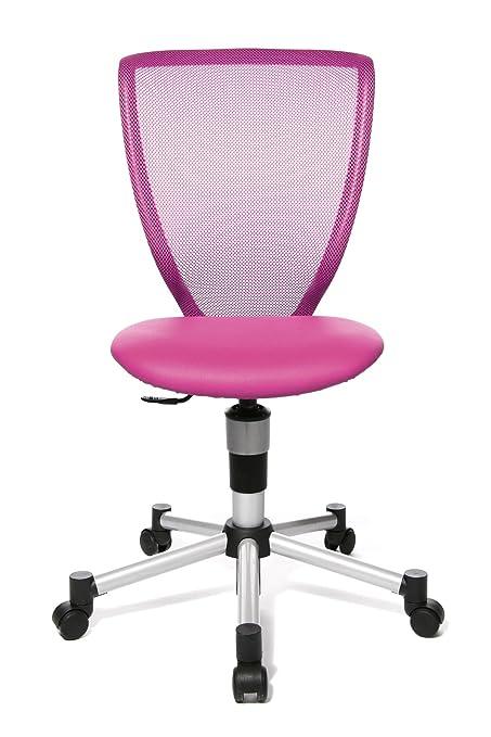 Topstar 71487S04 Titan Junior, Schreibtischstuhl, Kinderdrehstuhl, Jugenddrehstuhl, Netzrückenlehne und Bezugsstoff pink