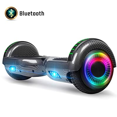 FLYING-ANT Hoverboard for Kids, 6.5 Inch Two Wheels Self Blancing Hoverboard with Bluetooth Speaker and LED Lights-Carbon Black: Sports & Outdoors