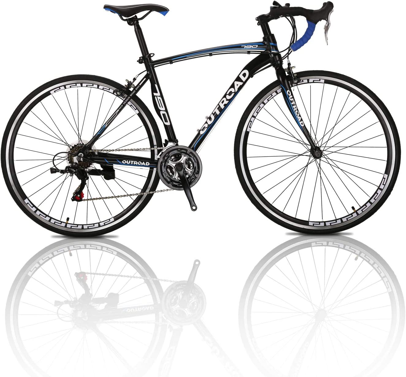 Outroad Road Bike Mountain Bike 700c 21 Speed 26 inch Commuter Bicycle Black, Blue, Silver