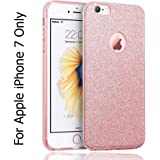 KC Cute Luxury Candy Glitter Sparkle Bling Designer Soft Back Cover for Apple iPhone 7 - Rose Gold