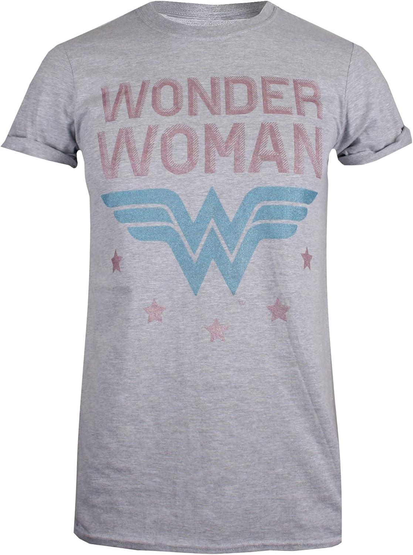 DC Comics Wonder Woman-WW Stars Camiseta para Mujer