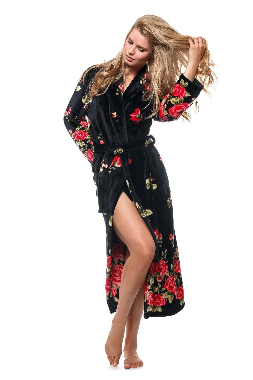 Cozy & Curious Women's Rose Garden Robe