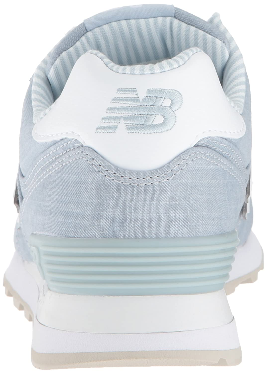 New Balance Women's 574v2 Sneaker B0751PSV38 10.5 D US|Light Porcelain Blue/White