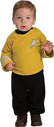 Disfraz de Capitán Kirk Star Trek para bebé - 0-6 meses: Amazon.es ...