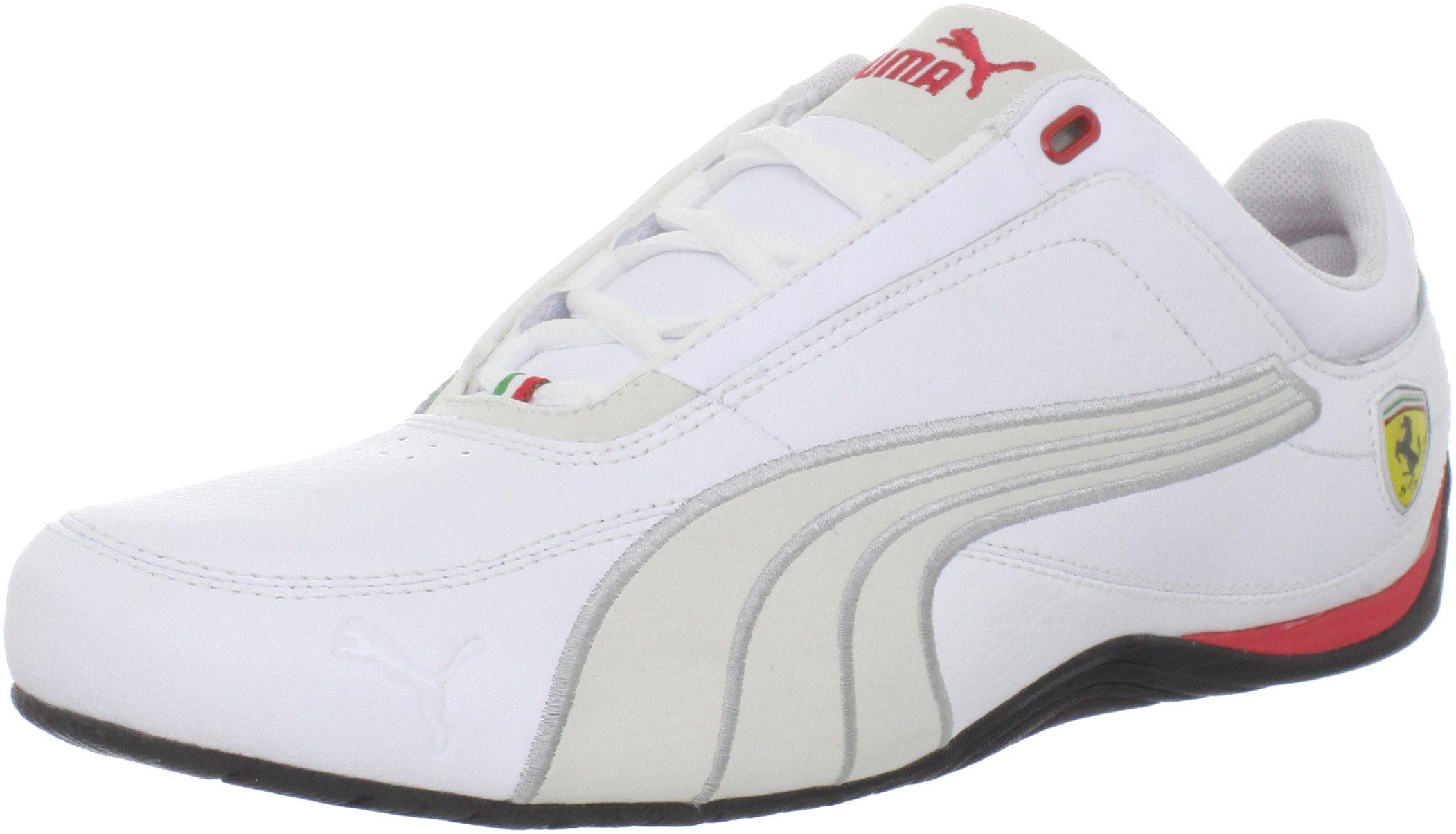 Puma Drift Cat 4 SF Carbon Fashion Sneaker,White/Rosso Corsa,13 D US