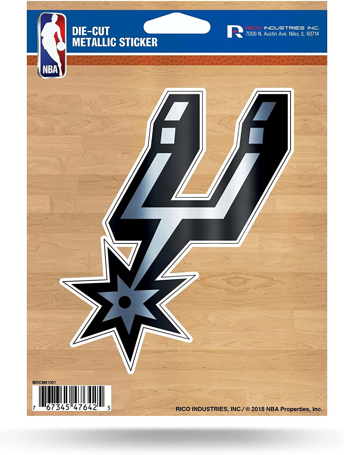 Rico Industries NBA Unisex-Adult Die Cut Metallic Sticker