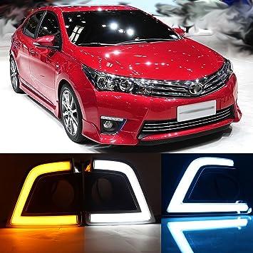 dongzhen LED DRL Conducción Lámpara para Toyota Corolla 2014 2015 luz diurna 1 par: Amazon.es: Coche y moto