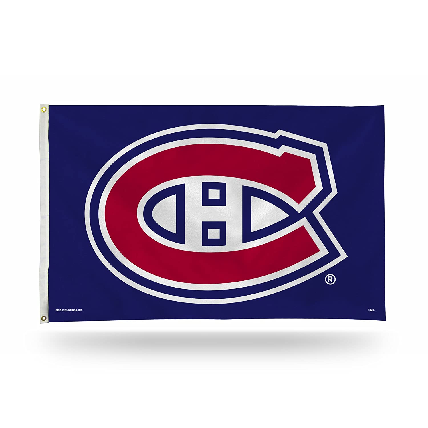 NHL 3 Foot by 5 Foot Single Sided Banner Flag with Grommets
