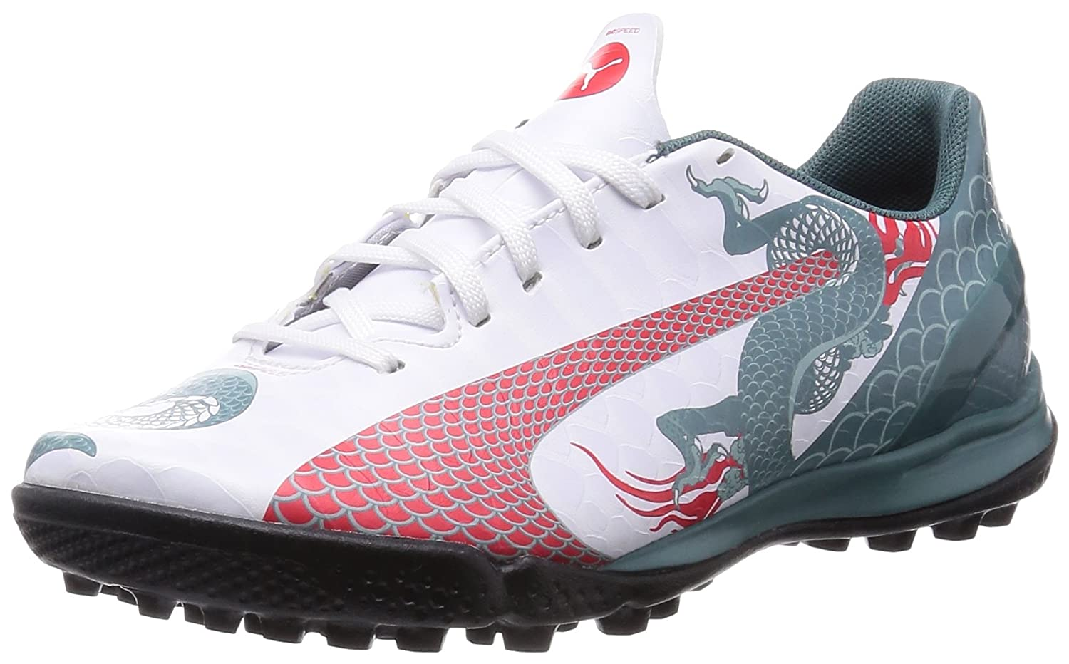 a4bd0d5bdf8a Puma evoSPEED 4.3 Graphic Astroturf Trainers - Kids White UK 5   Amazon.co.uk  Shoes   Bags