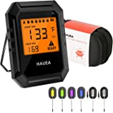 HAUEA Meat Thermometer Bluetooth, Smoking Thermometer Smart Cooking Thermometer with 6 Probes for Smoker Grilling Oven Kitche