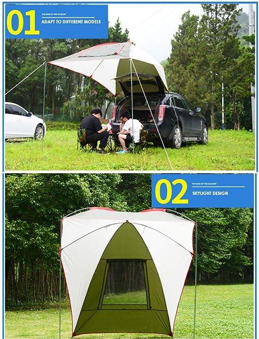 Toldo plegable para remolque, tienda de campaña, cobertizo de protección solar para 5-8 personas, impermeable y resistente a los rayos UV, adecuado para barbacoas de picnic para acampar en la playa: Amazon.es: