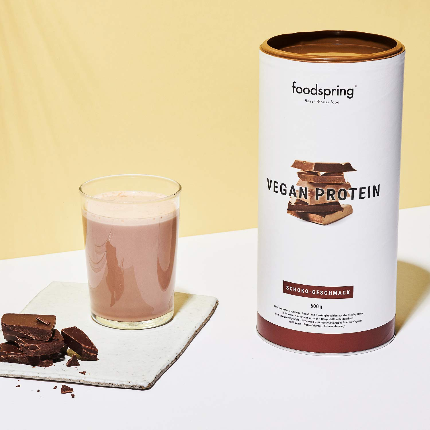 foodspring Proteinas Vegetales (Chocolate): Amazon.es: Salud y cuidado personal