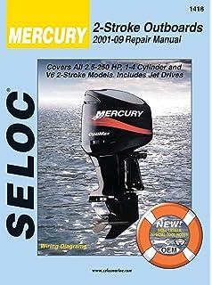 Mercury outboard motor service manual 9780672213205 amazon books mercury mariner outboards 2001 2014 all 2 stroke models fandeluxe Gallery
