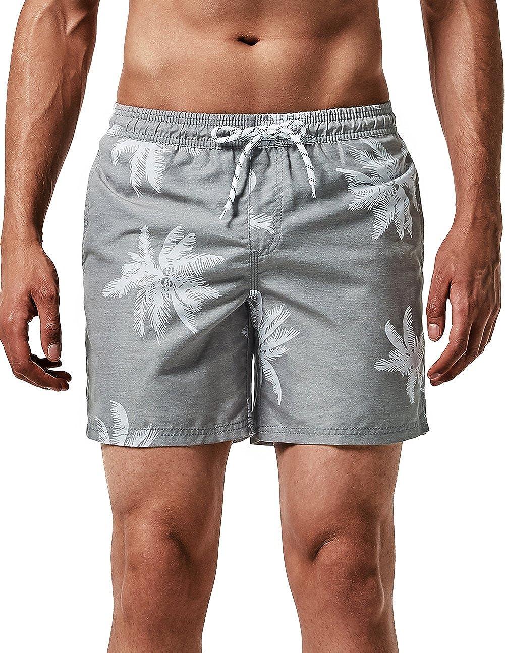MaaMgic Ba/ñador Hombre de Nataci/ón Secado R/ápido Interior de Malla Pantalones Imprimiendo Cortos