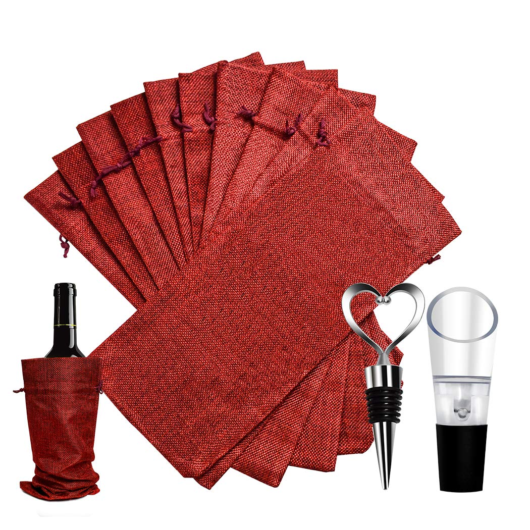 Transparent Wine Bottle Protector Bags 18 Pack Sleeves Glass Travel Transport Air Filled Column Leakproof Cushioning with a Free Air Pump and A Wine Opener