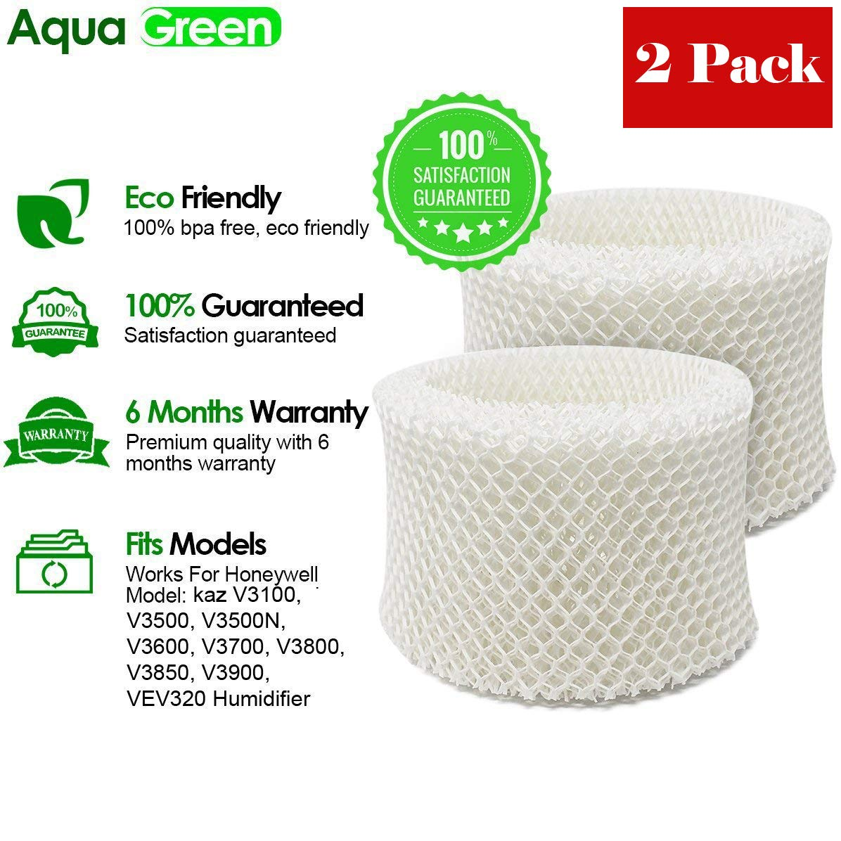 AQUA GREEN WF2 Filter Compatible Honeywell & Kaz WF2 Humidifier Filter