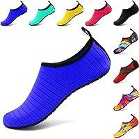 VIFUUR Chaussures de Sport Nautique Pieds Nus à Séchage Rapide Aqua Yoga Chaussettes Slip-on pour Hommes Femmes Enfants