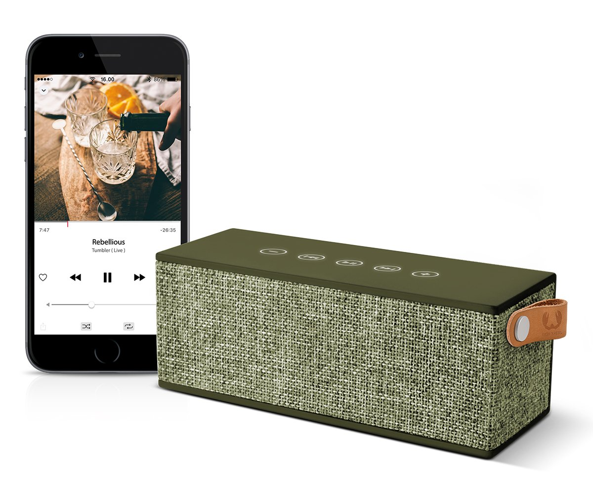 Fresh n Rebel Rockbox Brick - Altavoz Bluetooth Inalámbrico Portátil Verda: Amazon.es: Electrónica