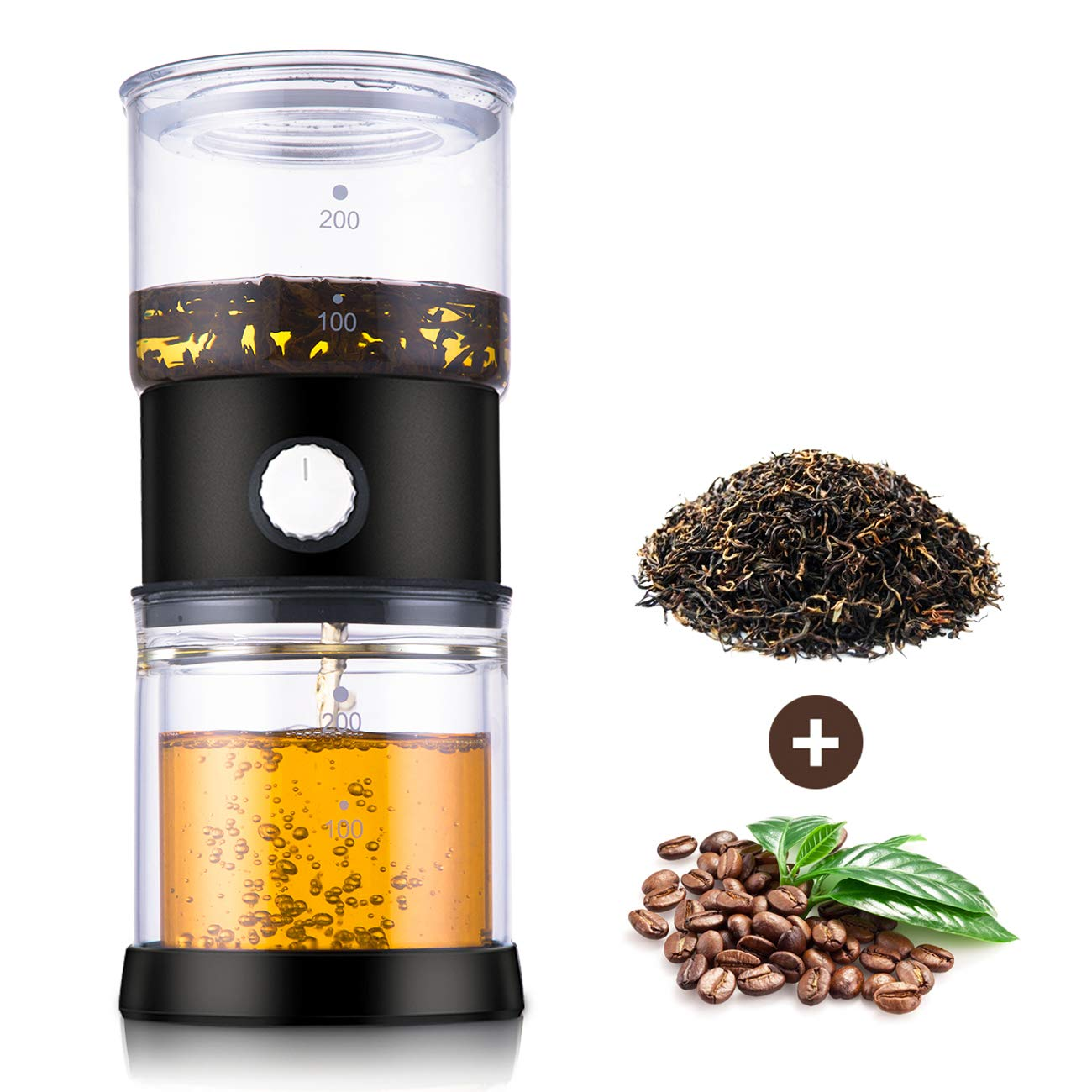 SULIVES Glass Teapot with Removable Infuser, Blooming and Loose Leaf Tea Maker Set