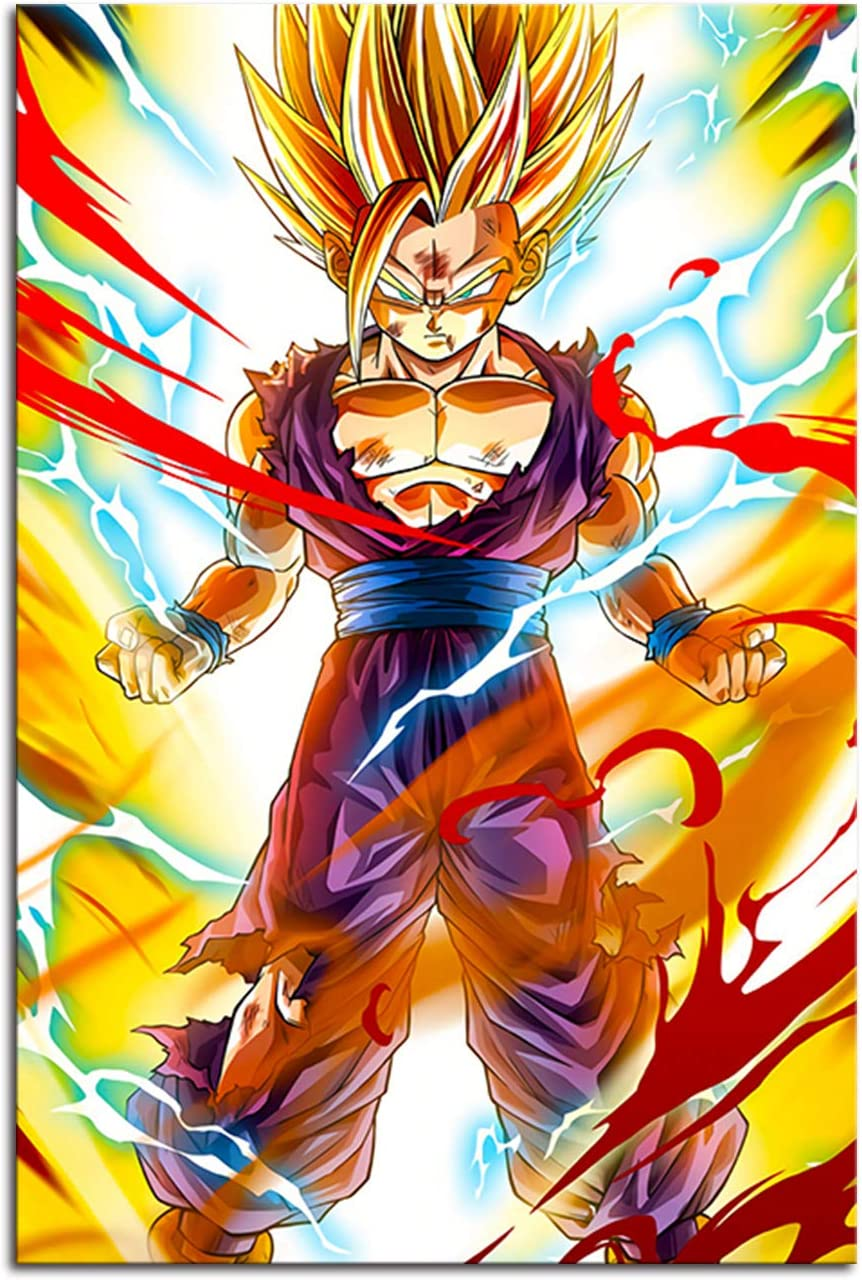 RINWUNS Wall Art Super Classic Anime Poster Canvas Print Painting Giclee Artwork Picture Modern Home Decor for Living Room Bedroom Unframed 1 PC 16x24inch (Only Canvas)