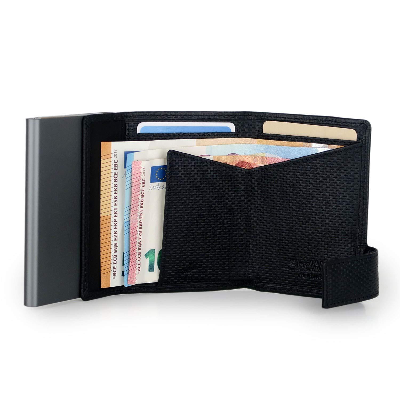 SecWal SecWal 1 Kreditkartenetui Geldb/örse RFID Leder 9 cm