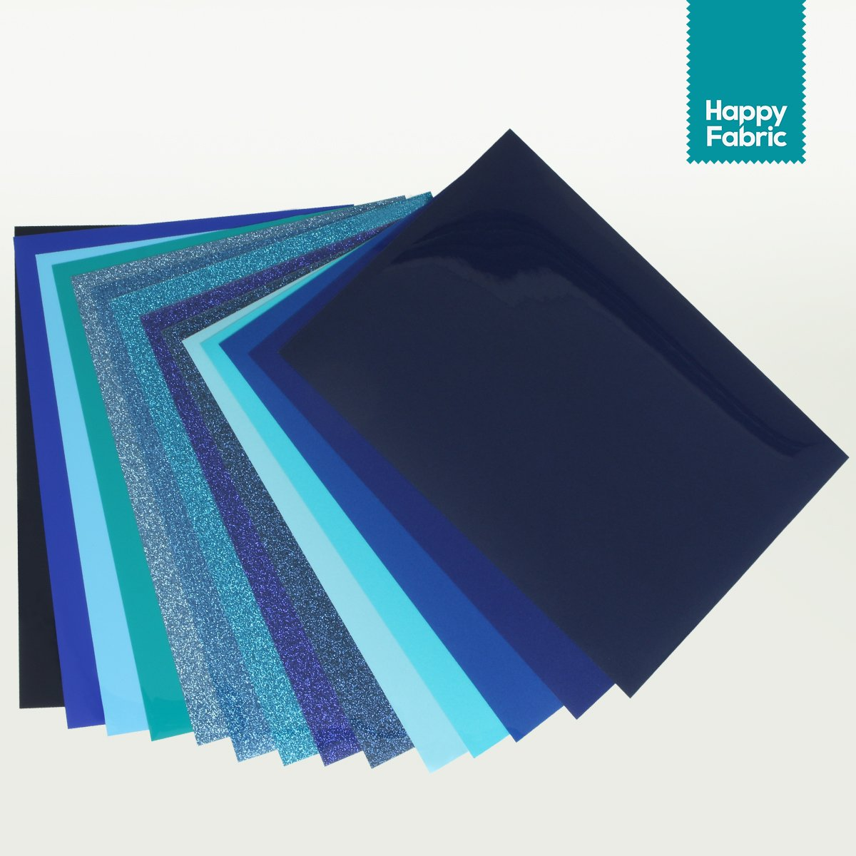 Blau Flex/Glitter/Flock Folienset HappyFabric