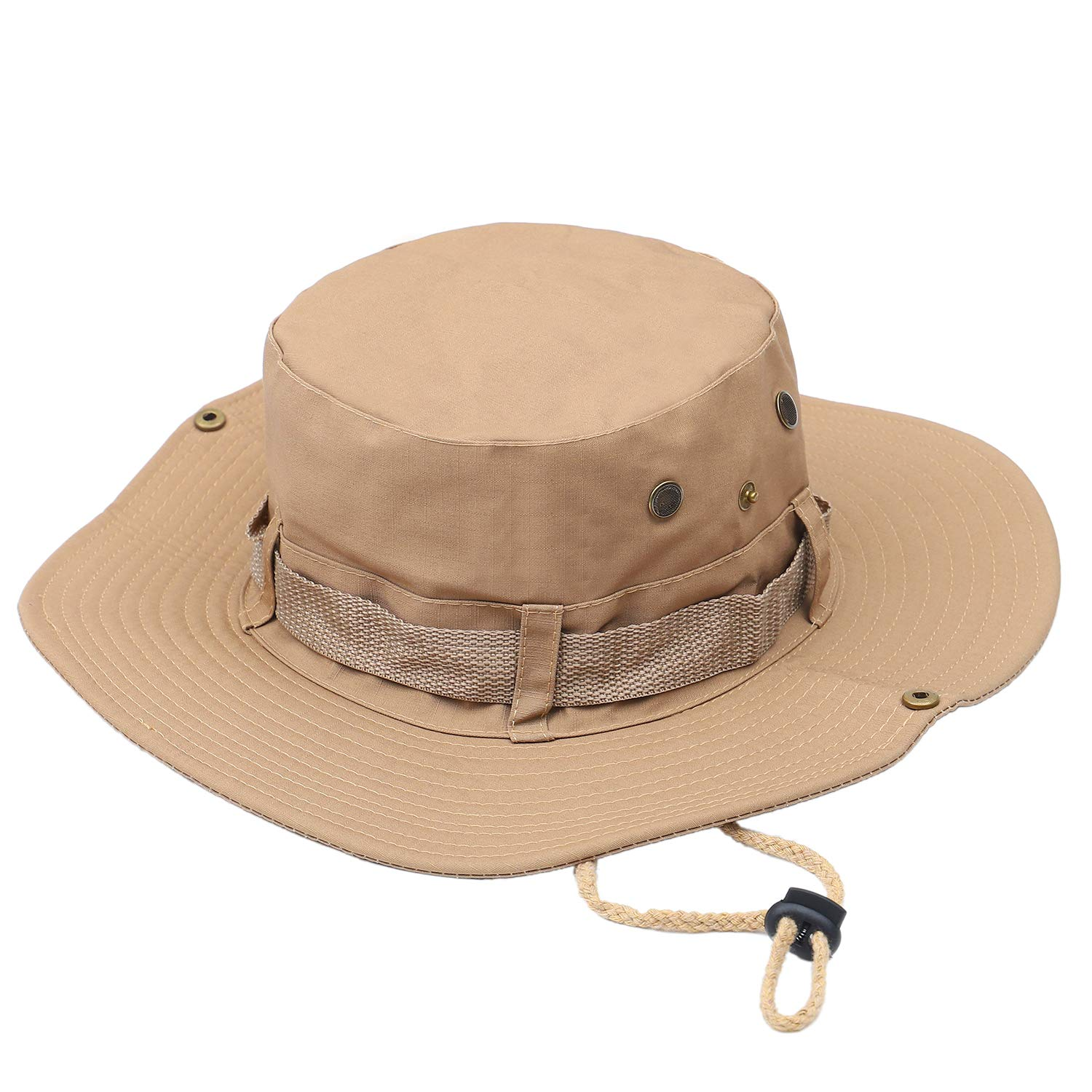 ChukDan Outdoor Wide Brim Breathable Packable Boonie Hat for Men Women, Sun Hat Cap UV Protection Perfect for Camping Fishing Gardening Hiking Travelling