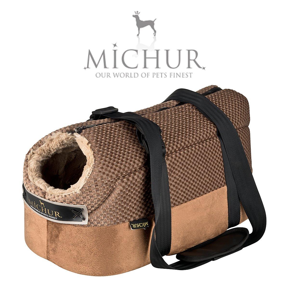 Mia - Sac de Transport pour Chien Style Sac à Main - Couleur : Marron Michur