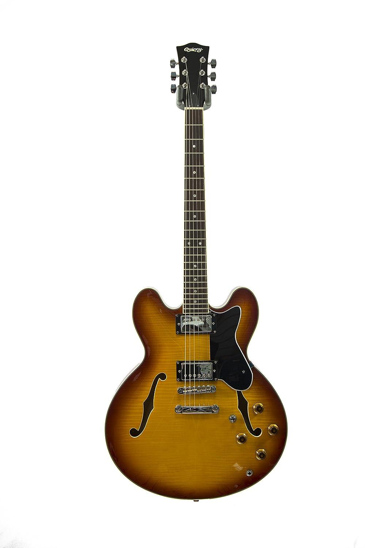 Winnipeg por parte de QUINCY 6 semi hueco de las cuerdas de la guitarra eléctrica (335 de la forma de/acolchado superior): Amazon.es: Instrumentos musicales