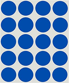 """1//2/"""" NAVY BLUE Circle Color Coded Coding Inventory Warehouse Labels 1000//Roll"""
