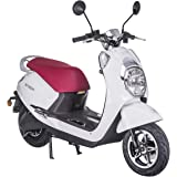 Lunex Electric scooter Adult Vespa E-SCOOTER 60V 50km/h 20AH 31MPH Retro Motorbike DIAMOND WHITE