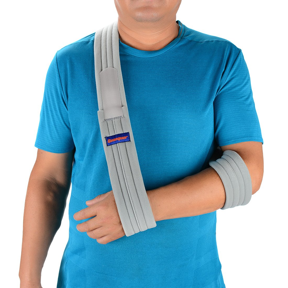 Arm Sling Shoulder Immobilizer- Adjustable Arm Support Strap for Broken Arm Immobilizer Wrist Elbow Support- Fits Both Adults and Youths (Simple/Lightweight/Comfortable)
